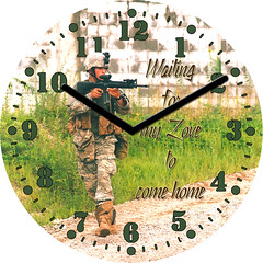 Soldier Away From Home Clock