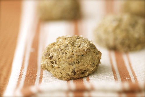 chewy oatmeal, orange, and date cookies
