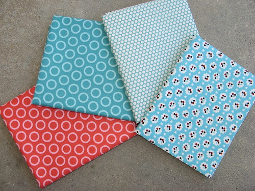 yummy fabric - pink and teal