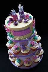 Cat & Mouse Tea Party Cupcake tower (Bella Cupcakes (Vanessa Iti)) Tags: birthday roses teaparty flowergarden cupcaketower catandmouse