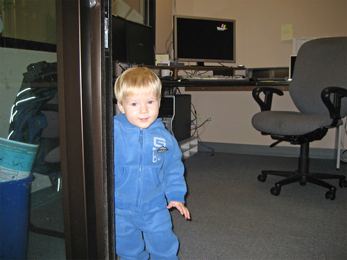 Jacob in Dad's office