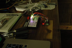 testing out the rainbowduino