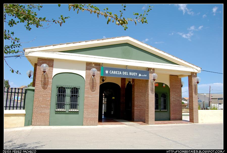 La estación de Adif en Cabeza del Buey