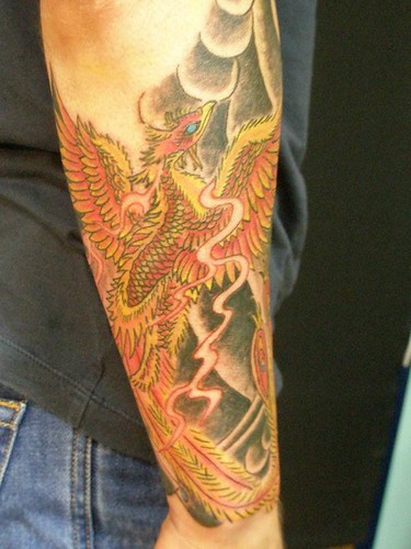 japanese half sleeve tattoos. Japanese phoenix half sleeve