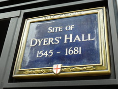Photo of Dyers' Hall blue plaque