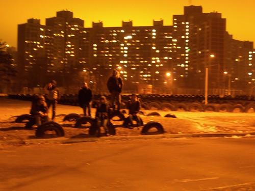 Odessa at night by Danalynn C