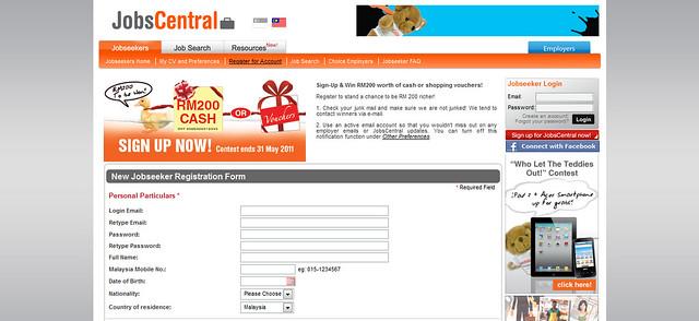 Malaysia Jobs - New Jobseeker Registration