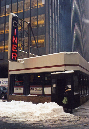 Winter at The Pearl Diner / Olympus Mju-II (Stylus Epic)
