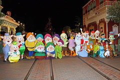 Character fun on Main Street after hours!