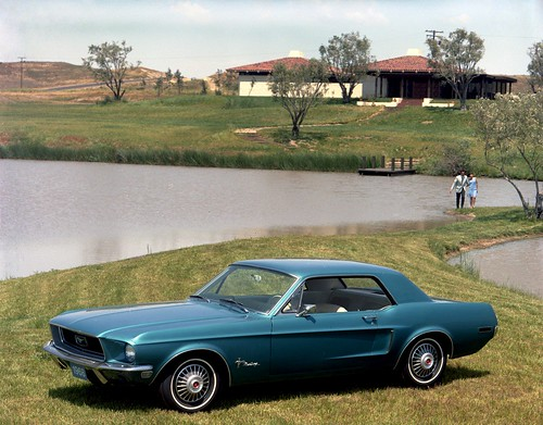 Blue 1968 Ford Mustang Hardtop