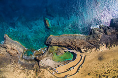 "Lanzarote. (¡arturii!) Tags: wow amazing awesome superb interesting stunning impressive nice beauty great arturii arturdebattk ""canonoes6d"" gettyimages travel trip tour route viatge holidays vacations drone dron flying aerial up above island paradise beach summer shoreline coast pool volcanic lava dji canarias spain españa phatom3 drones ocean colors blue colorful transparent water sand isla europe africa cool visual beautiful"