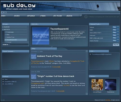 Sub Delay Artist Page