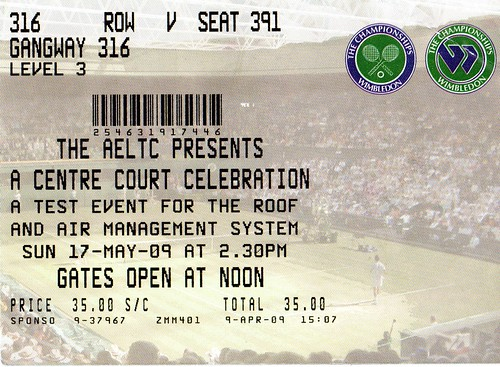 Wimbledon Roof Ticket