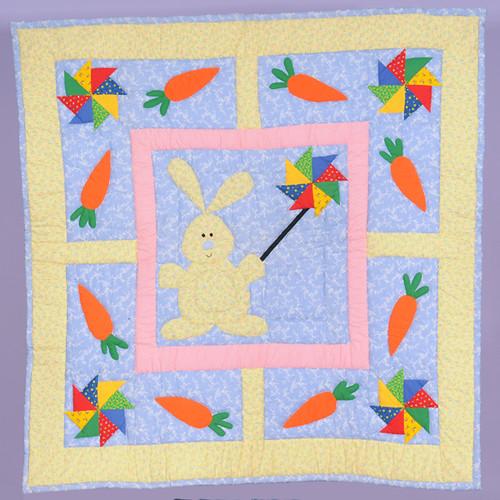Pinwheel Bunny Baby Quilt