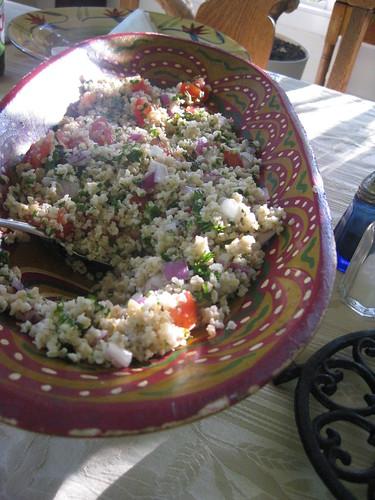 homemade quinoa tabouli