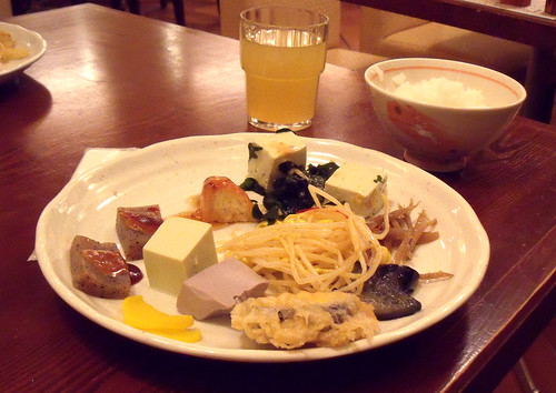 Selection of foods on offer at Mame no Hatake