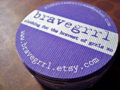 bravegrrl business cards