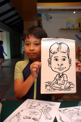 Caricature live sketching for Costa Sands Resort Pasir Ris Day 1 - 9