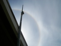 Circular Rainbow (AdultSwimBumpChannel2009) Tags: seattle urban church sign washington kent
