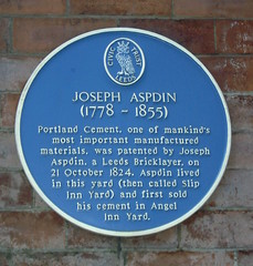 Photo of Joseph Aspdin blue plaque