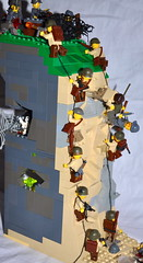 The climb (The Ranger of Awesomeness) Tags: david lego wwii assault landing dday pointeduhoc 1944 roa lcvp brickarms june6th1944 sealug