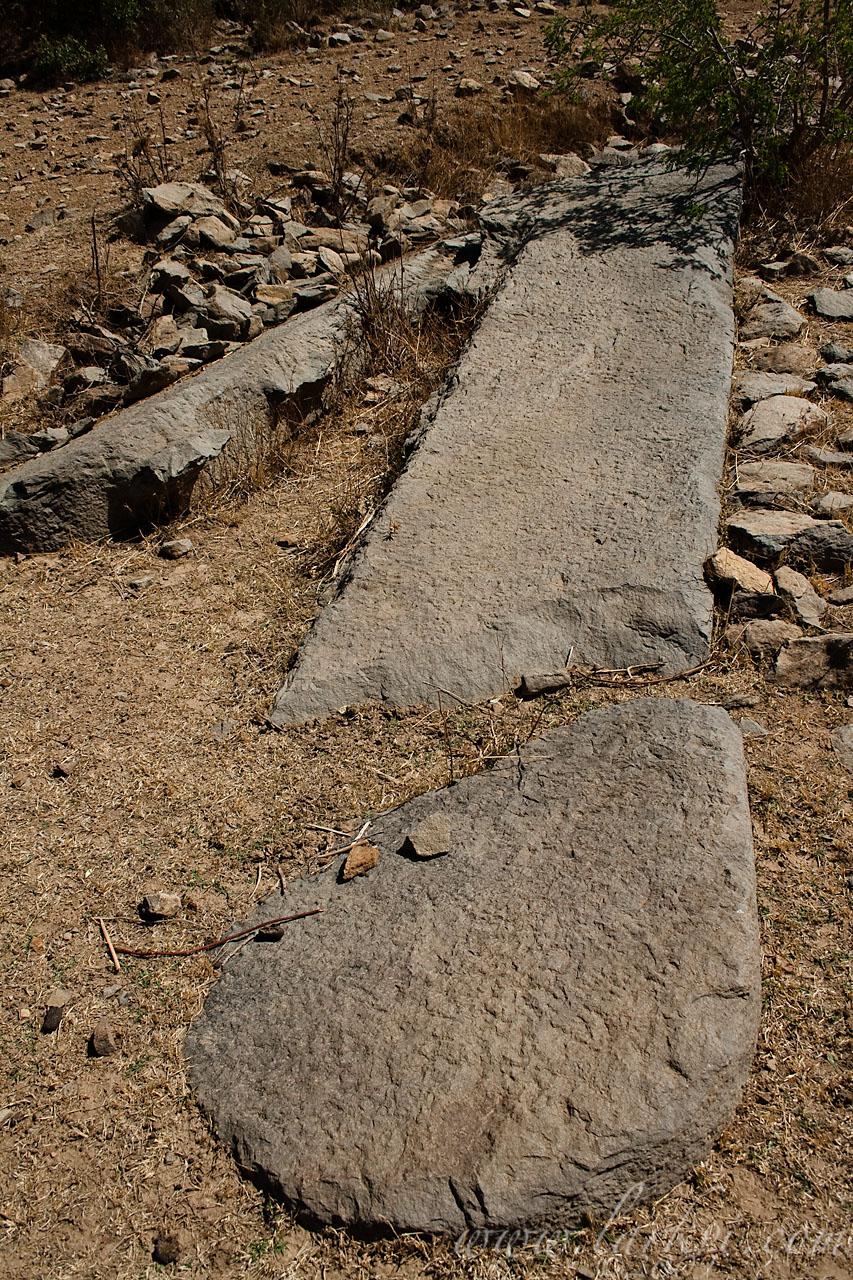 Double Stela, Beta Gyorgis Quarry, Axum, Tigray, Ethiopia, May 2009