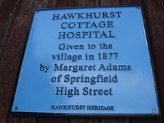 Photo of Hawkhurst Cottage Hospital blue plaque