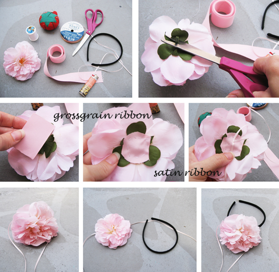 Making hairband for baby girl