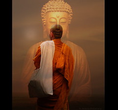 Buddha in my Mind - B3 (h.koppdelaney) Tags: life art digital photoshop energy peace symbol time buddha side peaceful monk buddhism philosophy mind awareness spiritual metaphor dharma zeitgeist looser symbolism psychology archetype competitive resolve