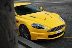 Aston Martin DBS (Tex Mex (alexandre-besancon.com)) Tags: paris color yellow martin supercar champselyses aston qatar dbs carsighting