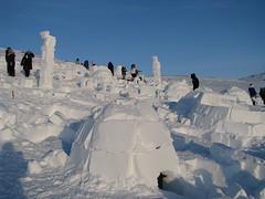 snow inuit inukshuk igloo