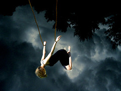 Barophobia- Fear of gravity (Explored) (Chantel Baggley) Tags: trees dark lost trapped moody upsidedown gravity ropes tiedup chantel edit darkclouds captivity conception phobia darksky meaningful phobias darkcolors blownouthair baggley barophobia chantelbaggley fearofgravity artisawoman thephobiaseries