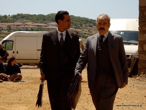 Ο Ερρίκος Λίτσης μαζί με τον Δημοσθένη Παπαδόπουλο στο Λαύριο