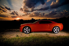 Sunset with my car 7/1/09 (Robin Gatti Photography) Tags: 2010camaro sscamaro 10sscamaro sunsetcamaro