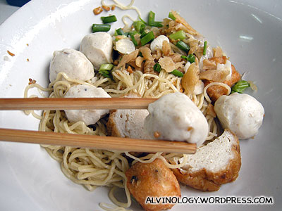 Fishball noodles for lunch