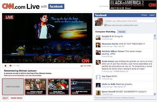 CNN  and Facebook Michael Jackson memorial