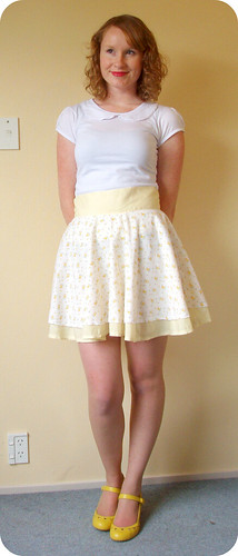 Yellow Tiered Circle Skirt