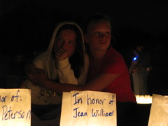 Emotions of the luminaria service at Relay For Life of Vancouver WA