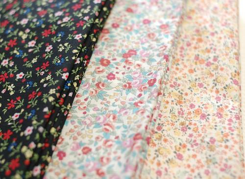 New fabrics, flower print