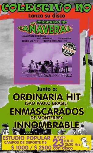 Colectivo NO, lanza su nuevo disco Cañaveral