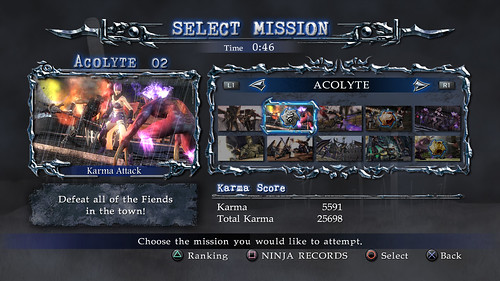Ninja Gaiden Sigma 2 - Co-op screenshot Mission Select