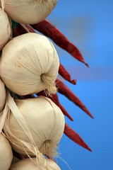 Hot String of Garlic (meonere) Tags: food markets garlic chillies marketstalls garlicstring foodfestivals