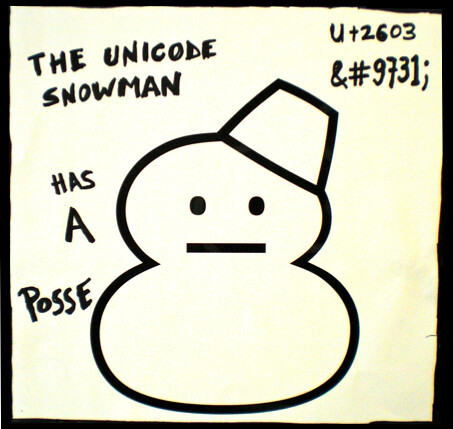 The Unicode Snowman Has A Posse