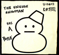 The Unicode Snowman Has A Posse (psd) Tags: snowman drawing hasaposse unicode 9731  u2603