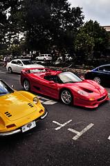 Ferrari F50 + Dino (DryHeatPanzer) Tags: ocean cars beach monterey dino 206 ferrari pebble exotic carmel auctions avenue rare 2009 supercar f50 rm