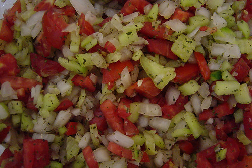 a Shirazi Salad ( Salad Persian Style )