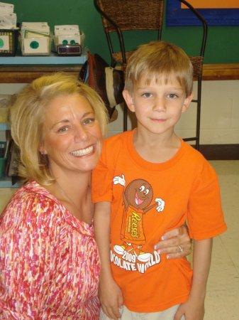 Chase & his 1st grade teacher