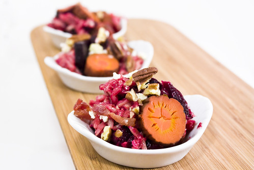 Blue Cheese Beets and Carrot Rice