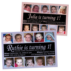 Custom Photo Card Design - First Birthday