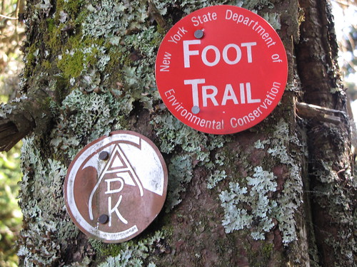 Trail markers - old and new